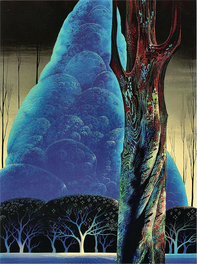Eyvind Earle Blue Nocturne