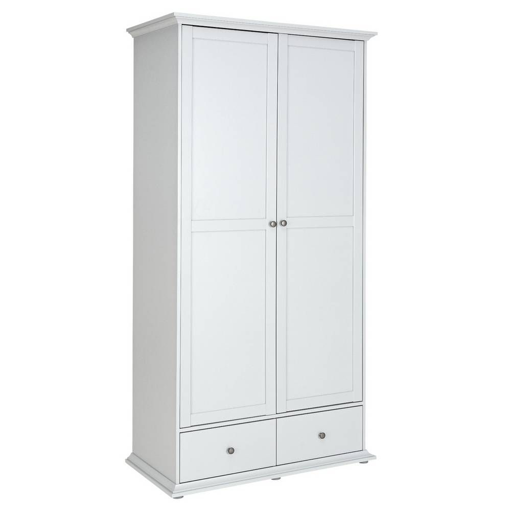 Buy Argos Home Heathland 2 Door 2 Drawer Wardrobe Grey Wardrobes Argos In 2020 Argos Home Grey Wardrobe Drawers