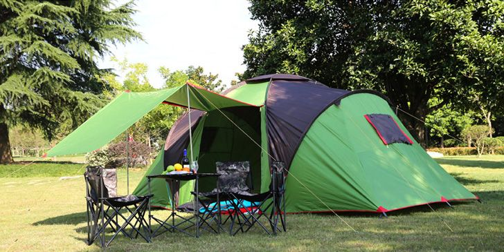 92a5b6bfdc 5-8 person outdoor family tent for camping hiking fishing beach anti-UV  waterproof one hall two roomed tent