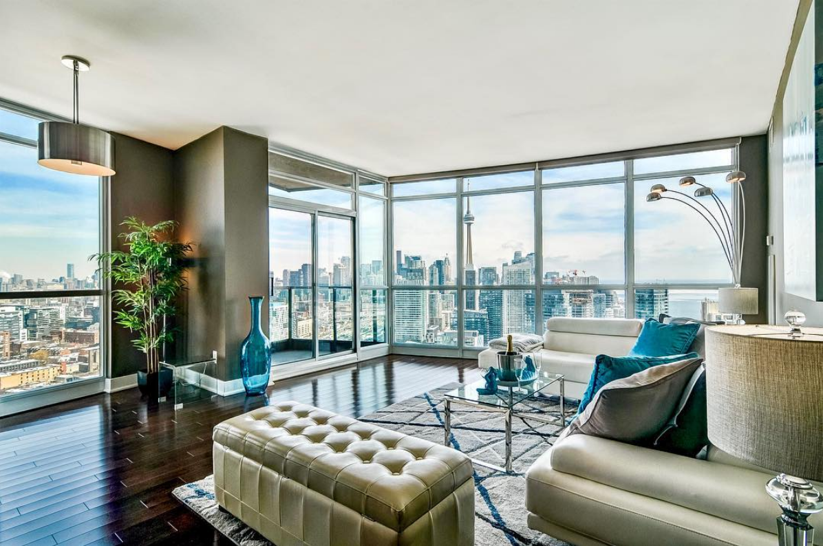 2 Bedroom Toronto For Rent Indoor Fireplace Floor To Ceiling Windows Luxury Property,Romantic French Country Master Bedroom