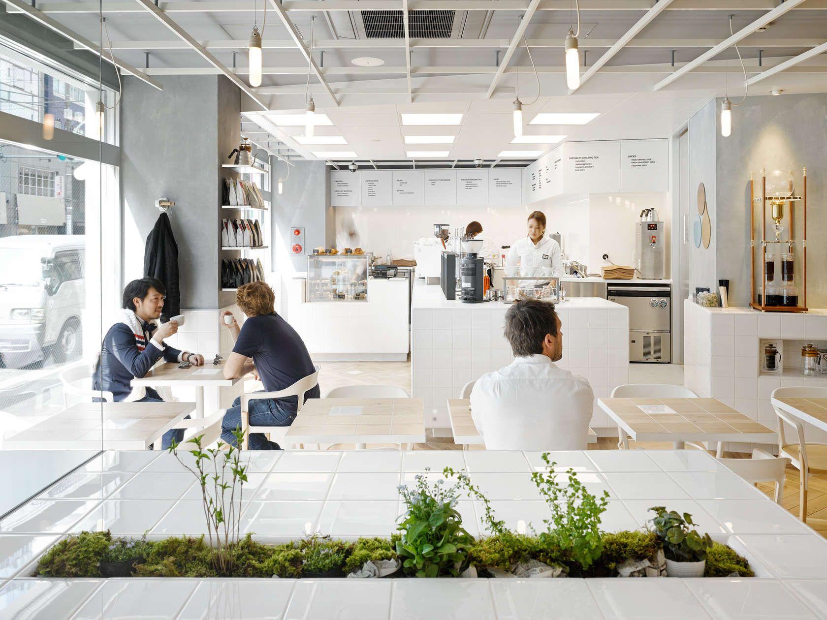 Laboratory Inspired Minimalist Coffee Bar Minimalist Landscaping