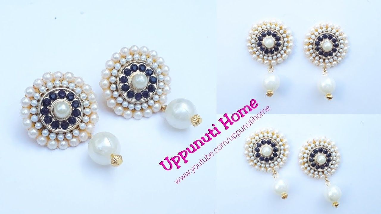 How To Make Designer Fancy Earrings At Home