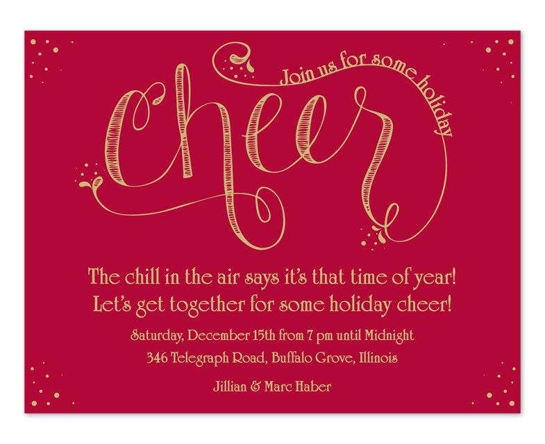 Holiday Cheer - Holiday Invitations by Invitation Consultants. (IC ...