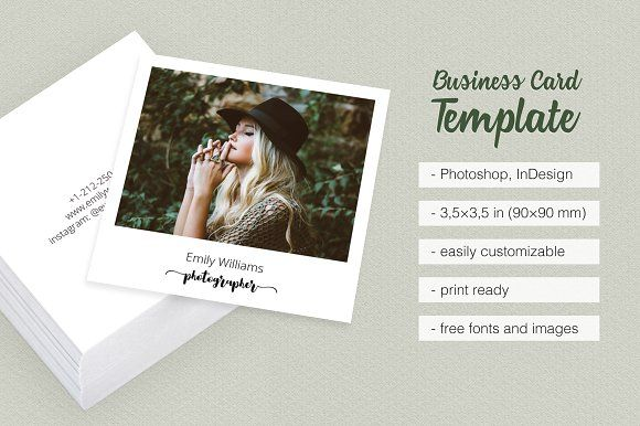 Polaroid Business Card Template By Moving Parallels On Creativemarket