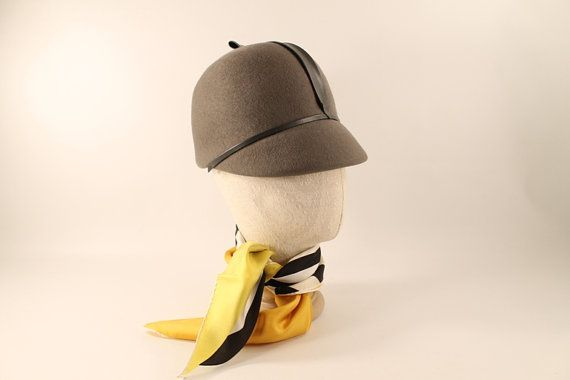 Vintage Neumann Endler Wool Womens Grey Hat Flight by Circa810, $27.00