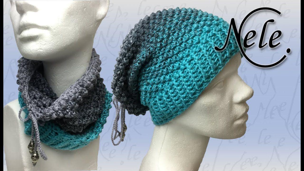 Mütze & Loop häkeln für Anfänger, gehäkelter Moop \