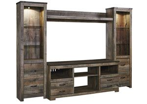 Trinell Brown Entertainment Center w Fireplace Option