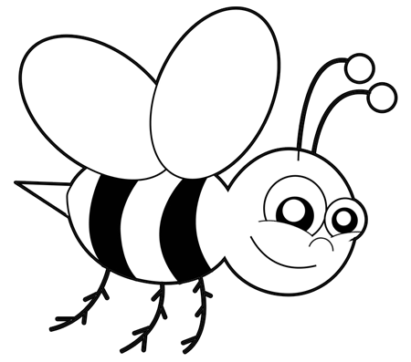 How To Draw Cartoon Bumblebees Or Bees With Easy Step By Drawing Tutorial