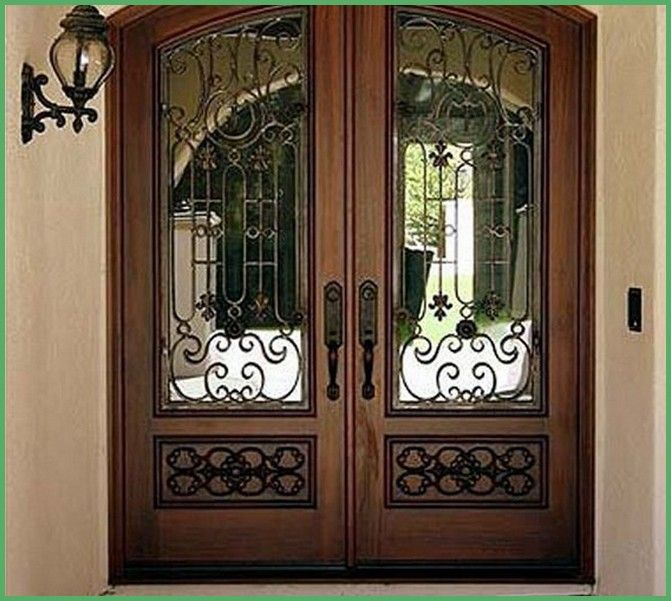 Wood And Iron Front Doors: Wrought Iron Wood Entry Doors