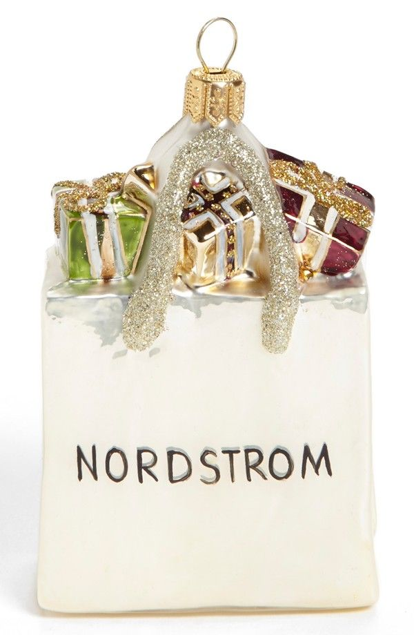 226fcd8ff181 Glitter Accented Nordstrom Shopping Bag Ornament - Ornament Reviews ...