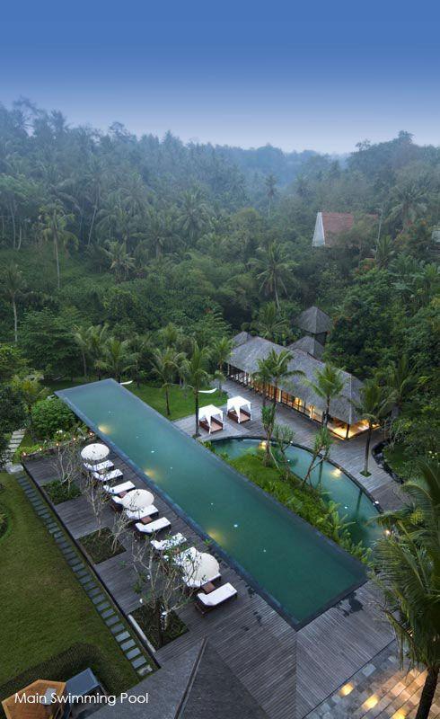 Komaneka Resorts Ubud Bali Piscinas De Sueños Terraza Con