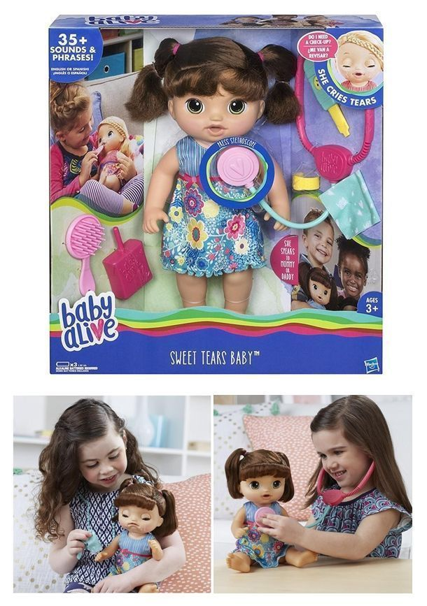 NEW Baby Alive Sweet Tears Baby Brunette Crys Speaks English/Spanish Doll Hasbro. #Christmastoys #ChristmasToysForGirls #ChristmasToysForKids #ToysForGirls #ToysForKids #spanishdolls NEW Baby Alive Sweet Tears Baby Brunette Crys Speaks English/Spanish Doll Hasbro. #Christmastoys #ChristmasToysForGirls #ChristmasToysForKids #ToysForGirls #ToysForKids #spanishdolls NEW Baby Alive Sweet Tears Baby Brunette Crys Speaks English/Spanish Doll Hasbro. #Christmastoys #ChristmasToysForGirls #ChristmasToys #spanishdolls