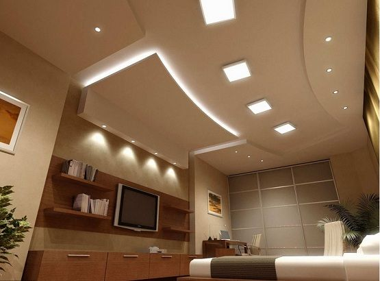 interior design for hall fall ceiling lights