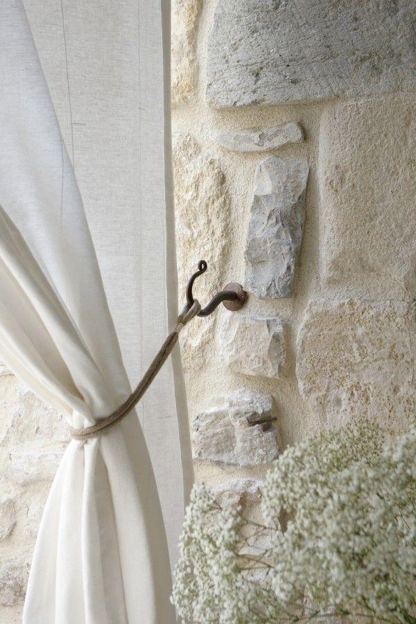 backyardexterior curtain tie backs Iron hook mrkateinspo