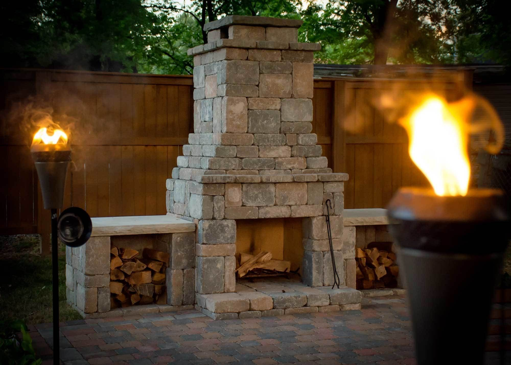 fremont diy outdoor fireplace kit   modular fireplaces   pinterest