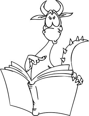 Ausmalbild Lesender Drache Drachen Zum Ausmalen Drachen Ausmalbilder Wenn Du Mal Buch