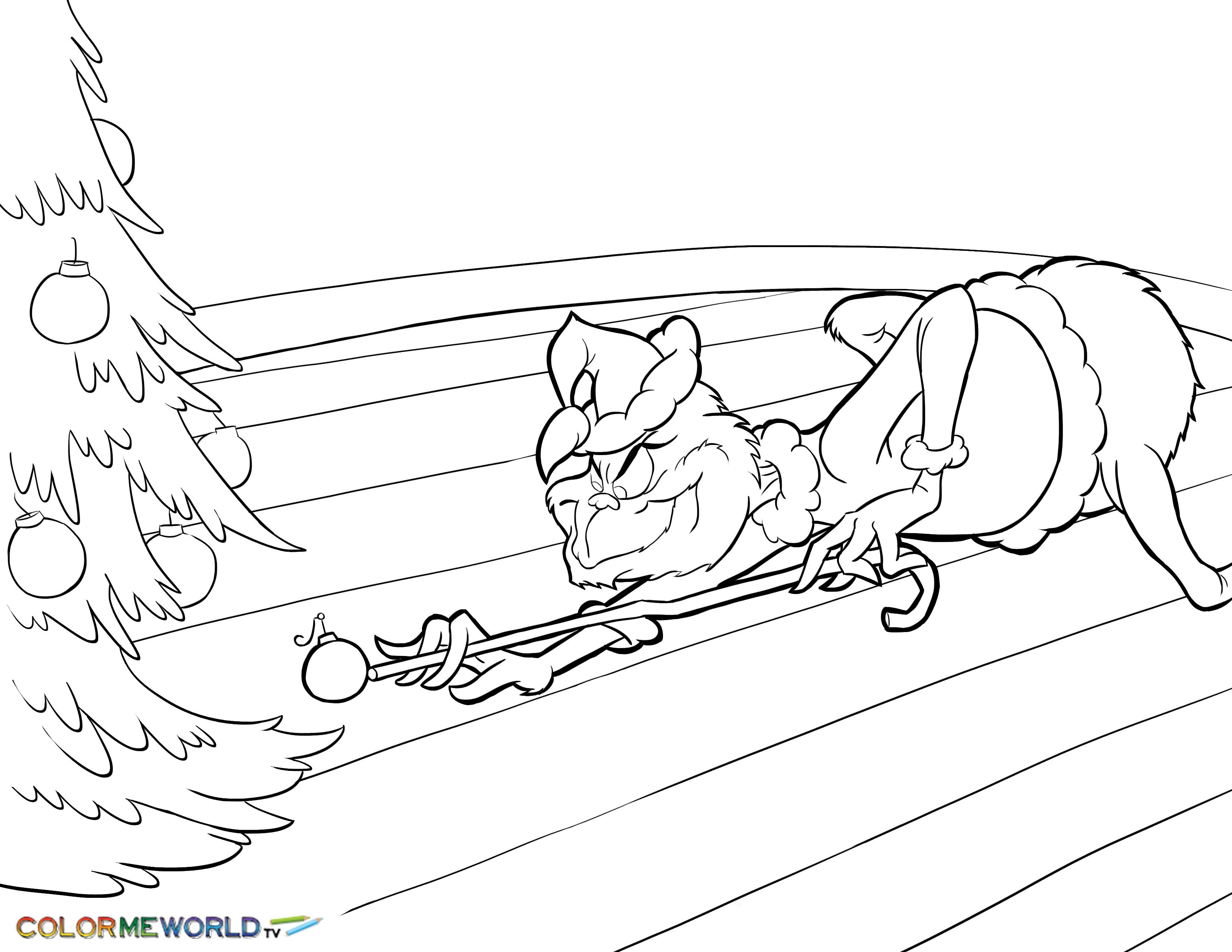 How The Grinch Stole Christmas Coloring Pages Printable