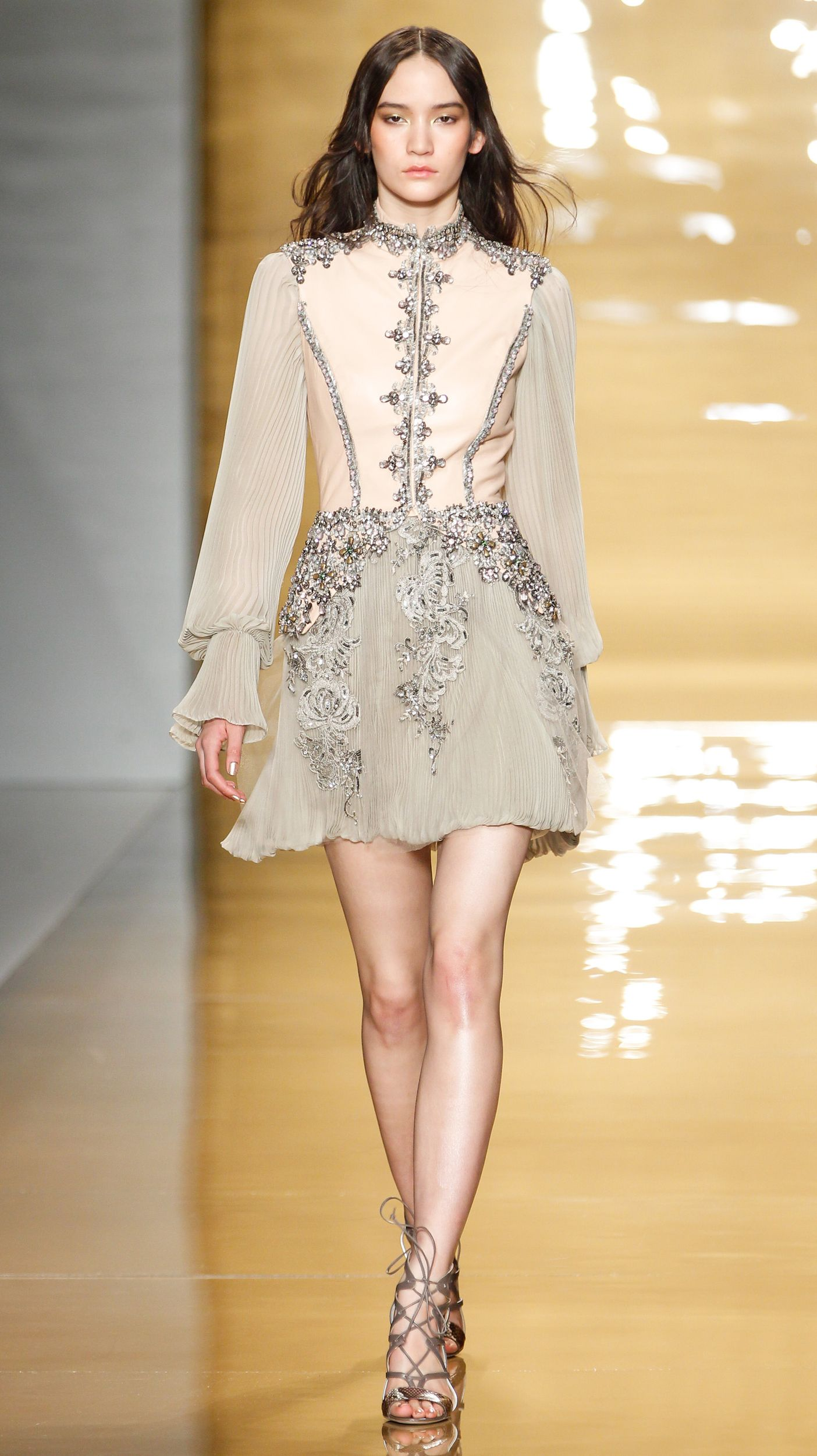 Embellished | Reem Acra Fall/Winter 2015: It won't be Fashion Week without some gorgeously embellished pieces. Reem Acra's intricate detailing was a standout among many. via @stylelist | http://aol.it/18eulUf