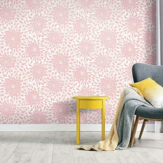 Amazon Com Roommates Rmk11478wp Toss The Bouquet Black Peel And Stick Wallpaper Removab In 2020 Peel And Stick Wallpaper Removable Wallpaper Self Adhesive Wallpaper