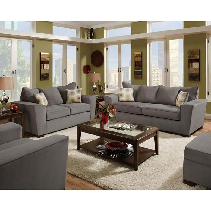 Gray Living Room NFM Loveseat
