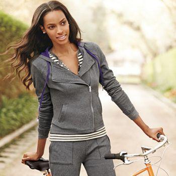 Chaps Fall Look 4 - @Kohls Women's Hooded Asymmetrical Cotton-blend jacket