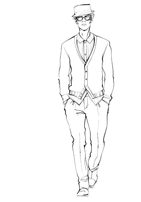 67 Trendy fashion drawing template men