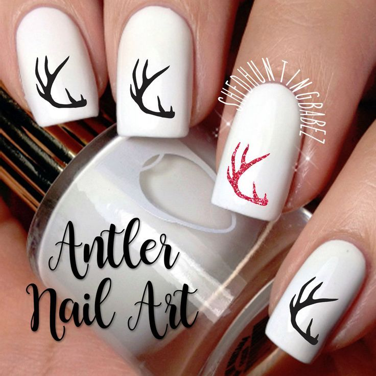 Deer Antler Nail Art Decals | Girls That Hunt Fingernail Stickers ...