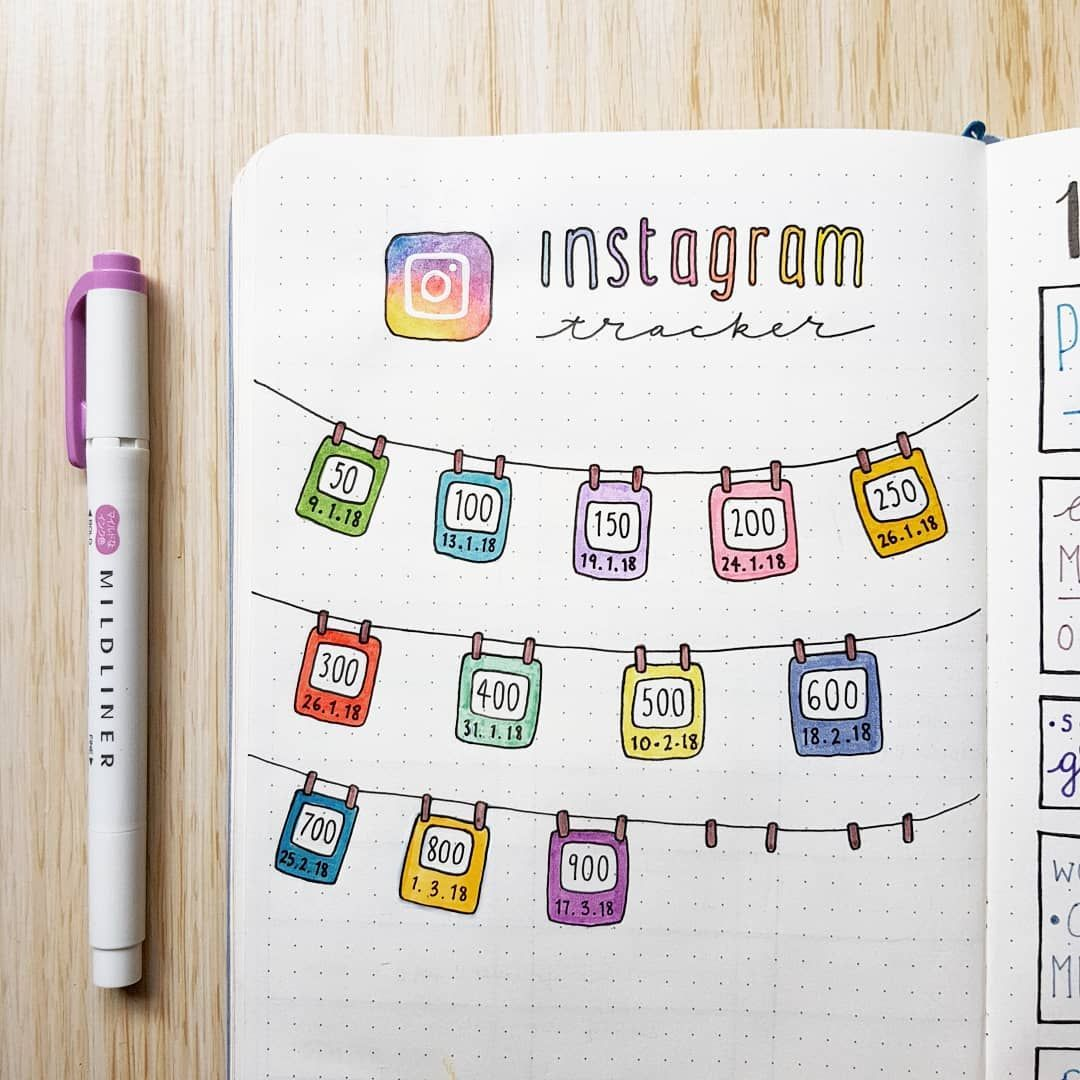 45 Followworthy Instagram Trackers Bullet journal ideas