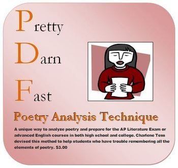 Pretty Darn Fast Poetry Analysis Technique Teaching Literature