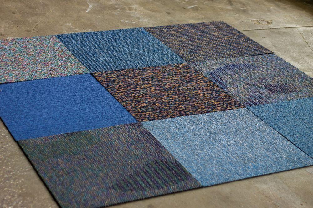 Mix Match Carpet Squares Blue Family 12 Tiles Box 24 X 24 48sf Carpet Squares Carpet Quality Carpets