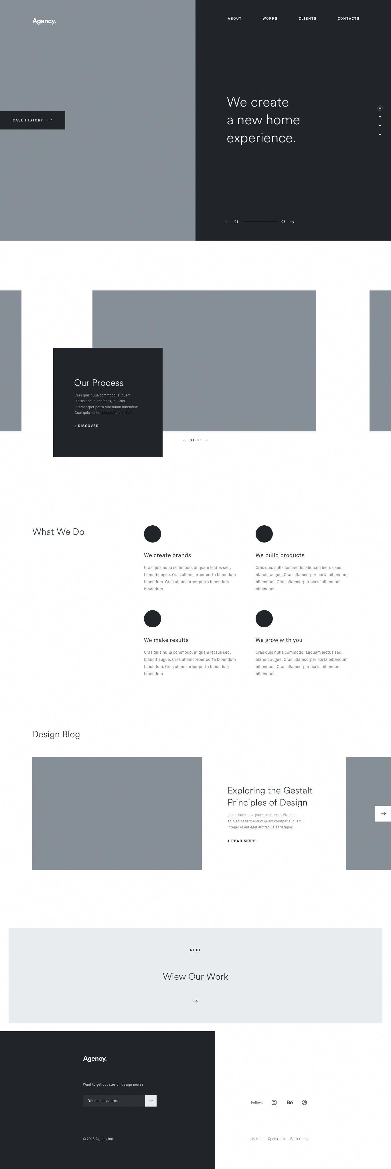 Agency Wireframe Webdesignagency Wireframe Design Web Layout Design Web Design Tips