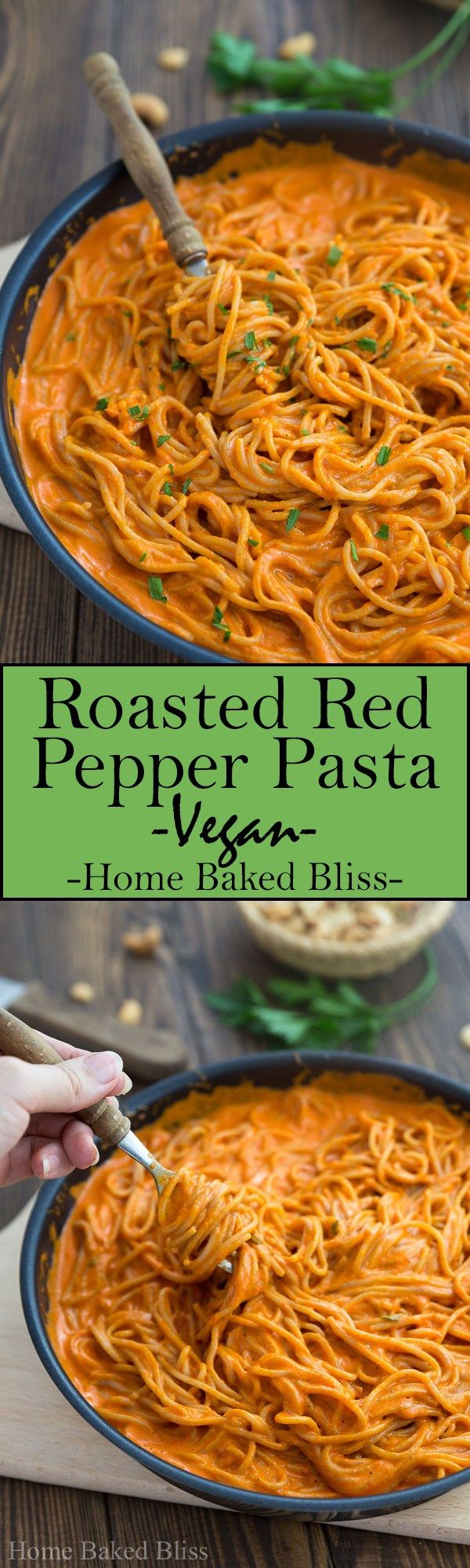 Roasted Red Pepper Pasta #bellpeppers