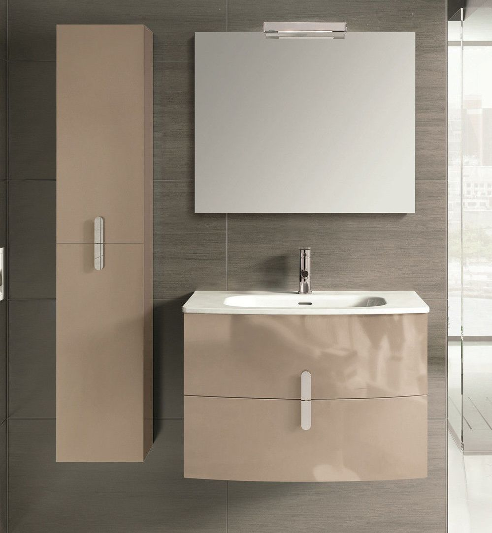 Spain Style 31 Inch Modern Wall Mount Bathroom Vanity Http Www Listvanities Com Wall Mounted Va Modern Bathroom Vanity Modern Bathroom Brown Modern Bathrooms
