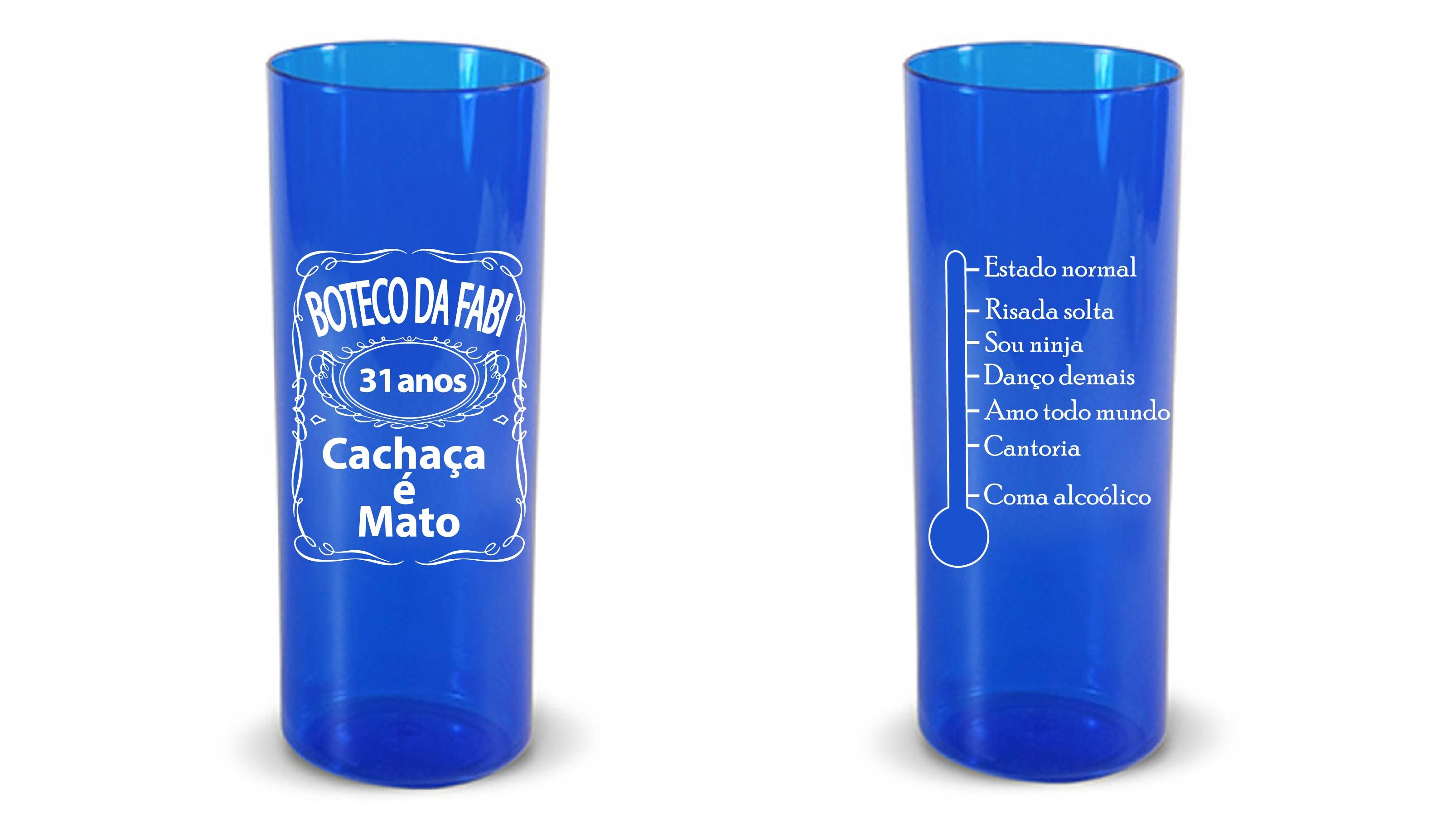 Copo Long Drink 350ml Personalizado Com O Tema Boteco Long Drink