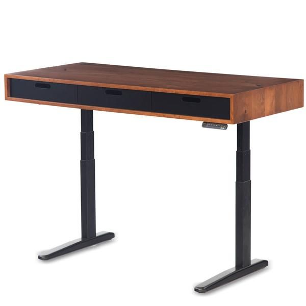 The Evolve Modern Adjustable Standing Desk Featuring The Jarvis
