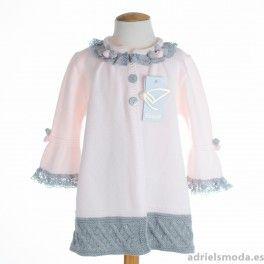 03c85fe4e Abrigo de punto para bebé de Foque. Moda Infantil