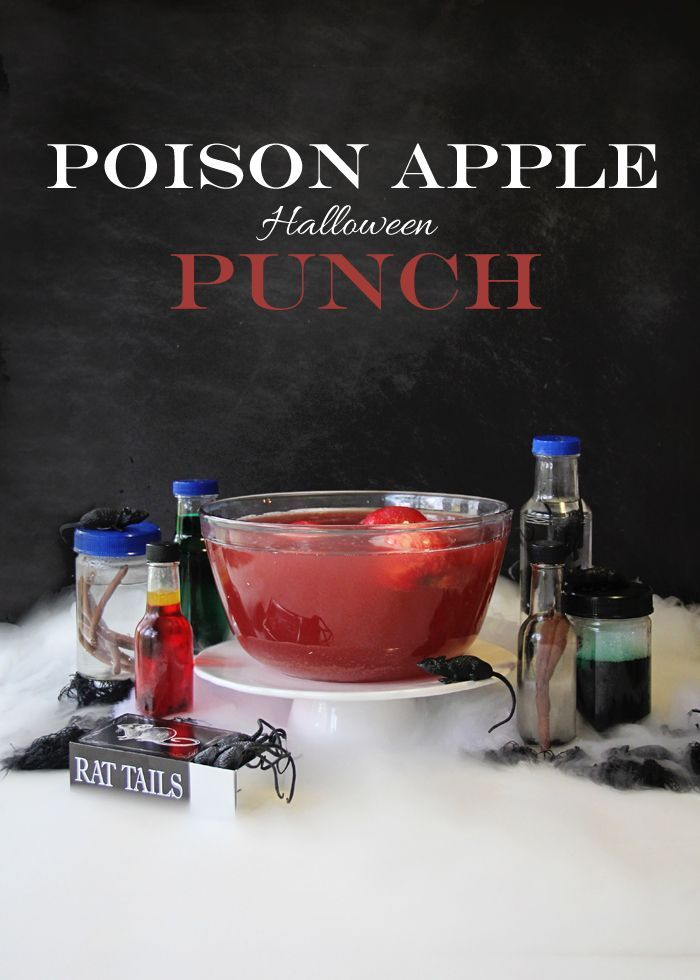 Poison Apple Halloween Punch. #alcoholpunchrecipes
