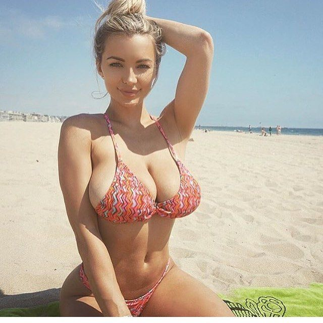 Tits out of bikini