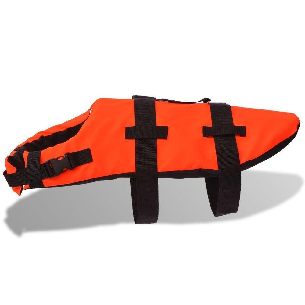 Dog Life Jacket Pet Floating Swimming Vest Handle Summer Water Phosphide Orange  #Dog #Life #Jacket #summer #uk #breeds