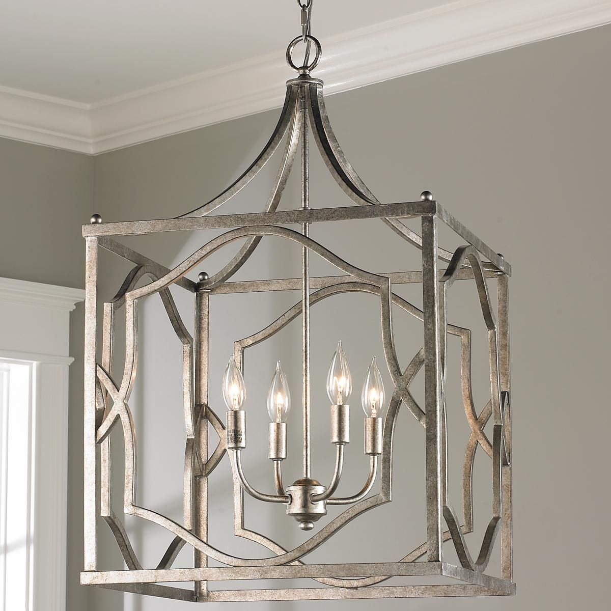 lantern kitchen lighting stainless steel carts modern fretwork cage medium florida house