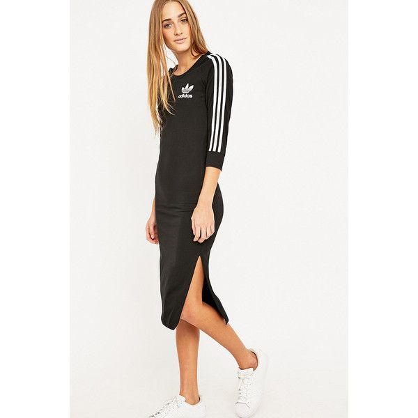 Adidas Three Stripe Black Midi Dress 435 Dkk Liked On