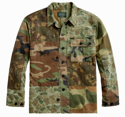5511a92c78 Polo-Country-Ralph-Lauren-Men-Military-Army-Camo-Soldiers -Patchwork-Shirt-Jacket
