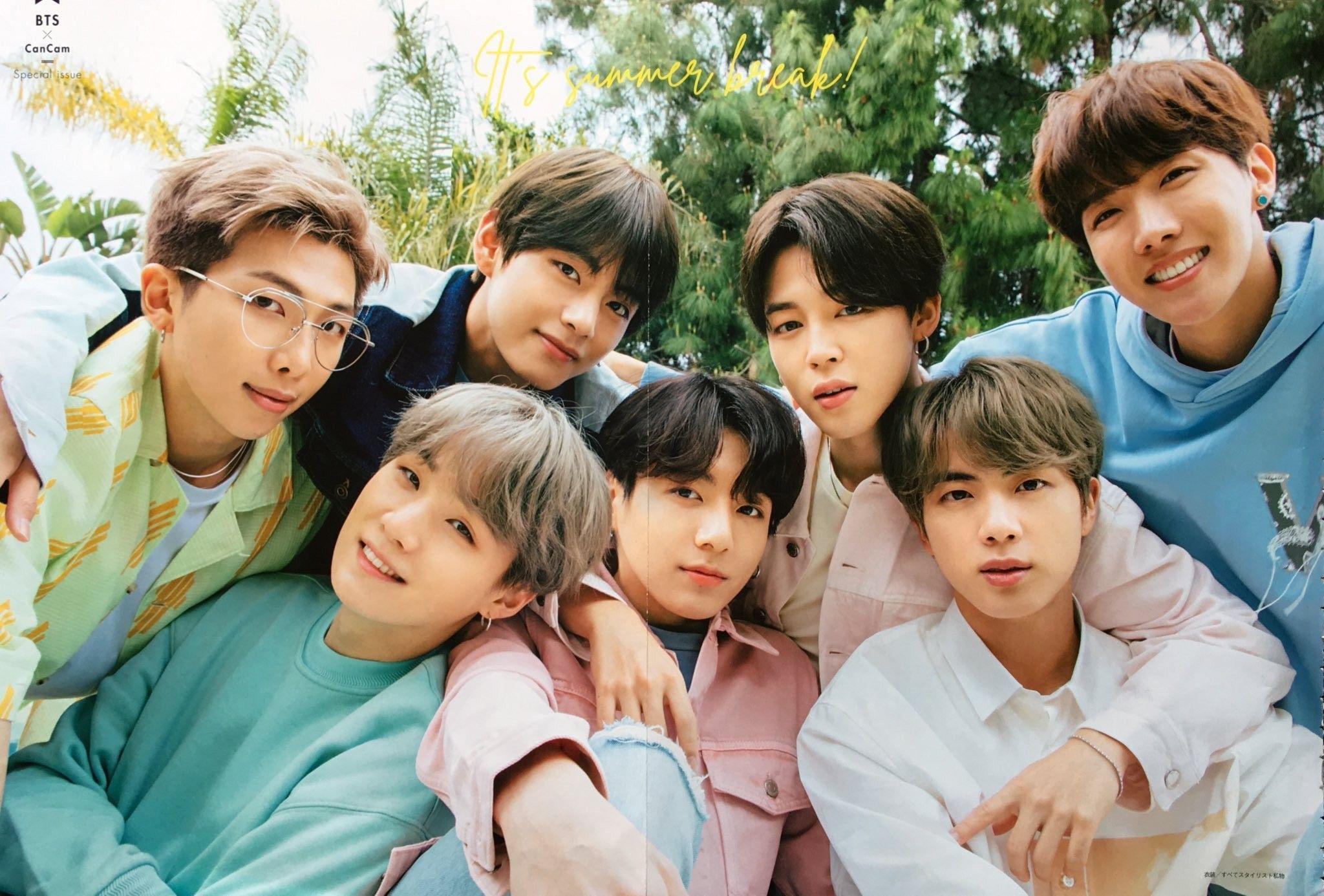 BTS cancam magazine August Issue Bts jungkook
