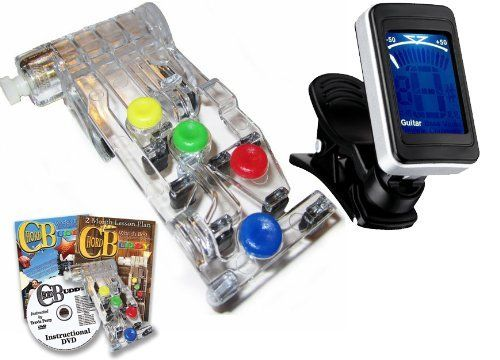 Chord Buddy Guitar Learning System With Clip On Chromatic Tuner By