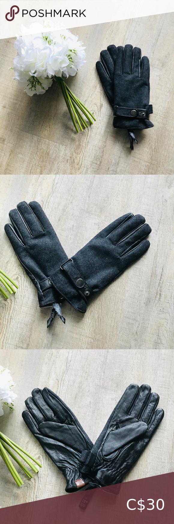 Aldo Brand New Leather Warm Gloves Women Ladies Al