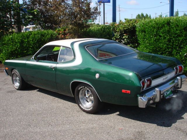 This Is Similar To My Second Car 1974 Dodge Dart Sport Mine Was Also Green With A White Vinyl Roof And Starksky Hutch Strip