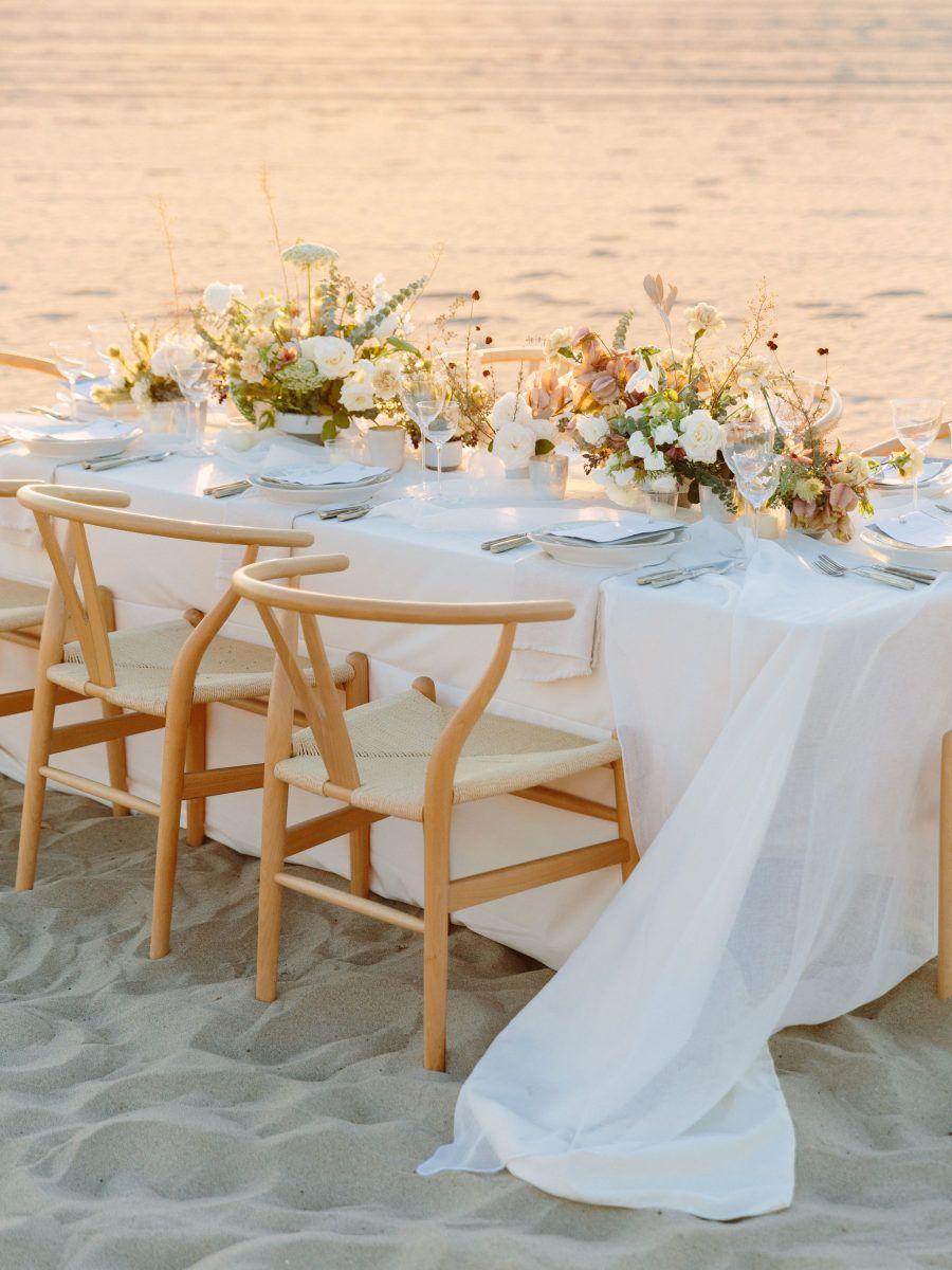 Neutral Manhattan Beach Wedding Inspiration For Southern California Brides California Beach Wedding California Bride Beach Wedding