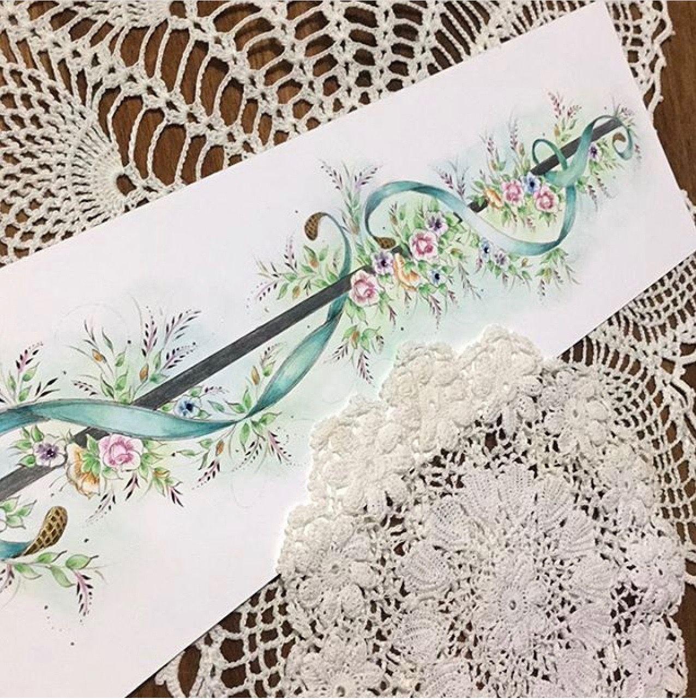 Beautiful calligraphy flourish envelopes by professional