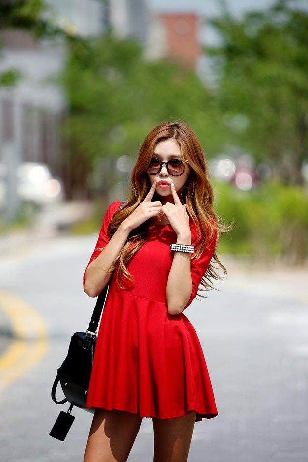 eb4db20cba2d Vestidos coreanos para primavera | vestidos cortos | Vestidos ...