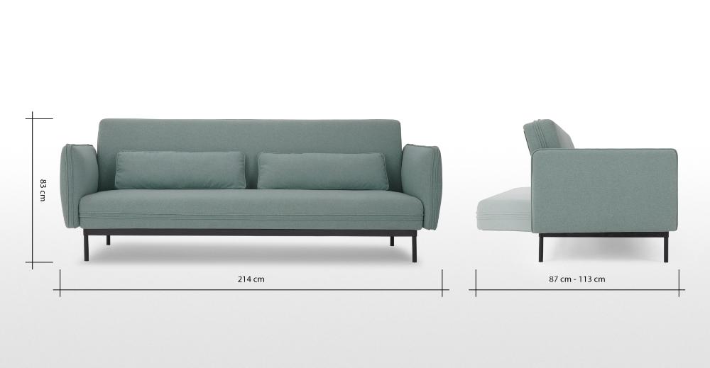 Shay Click Clack Sofa Bed, Tarragon Green in 2020 Sofa